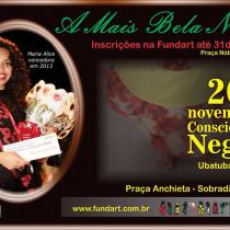 """FundArt abre inscrições para o """"Concurso A Mais Bela Negra 2014"""""""