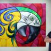 Artista autodidata, Adriano Art expõe obras em Ubatuba