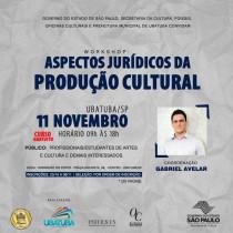 """Ubatuba terá workshop """"Aspectos Jurídicos da Produção Cultural"""""""
