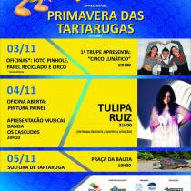 """2ª etapa do projeto """"Primavera das Tartarugas"""" acontece no Tamar Ubatuba-SP"""