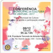 5ª Conferência Municipal de Cultura de Ubatuba acontece neste sábado