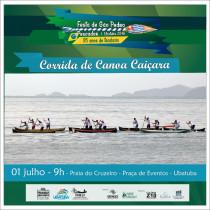 Festa de São Pedro Pescador terá corrida de canoa caiçara neste domingo