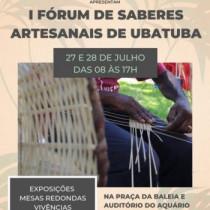 Estão abertas as inscrições para o I Fórum de Saberes Artesanais de Ubatuba