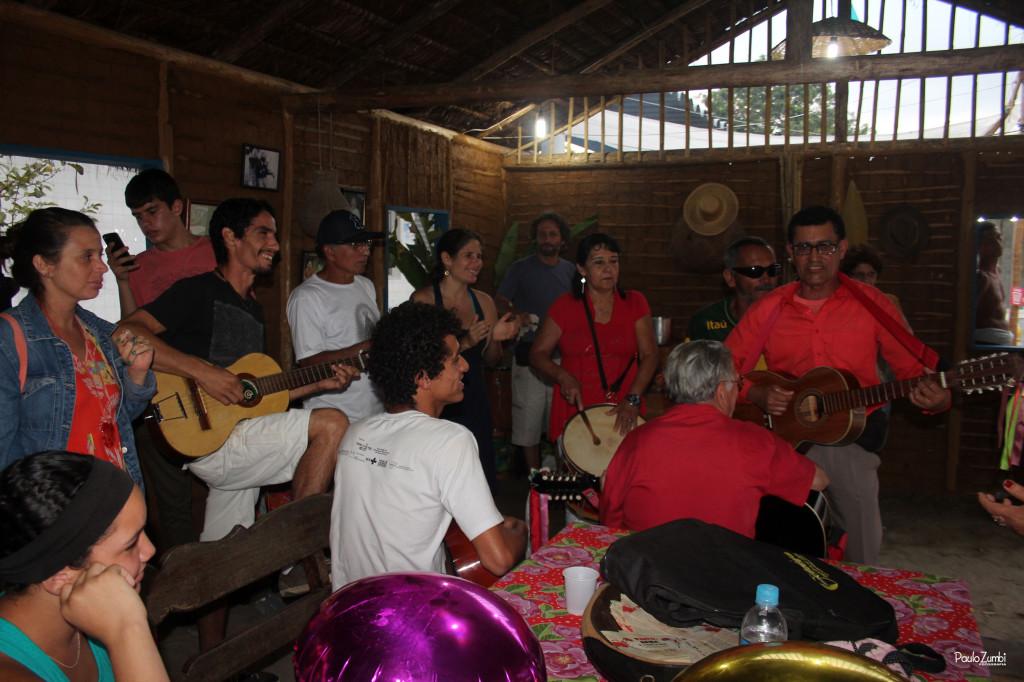 Fandango e comidas tradicionais da casa caiçara